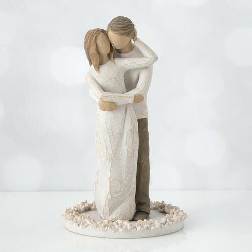 """WILLOW TREE TOGETHER CAKE TOPPER - 6""""h - 27162"""