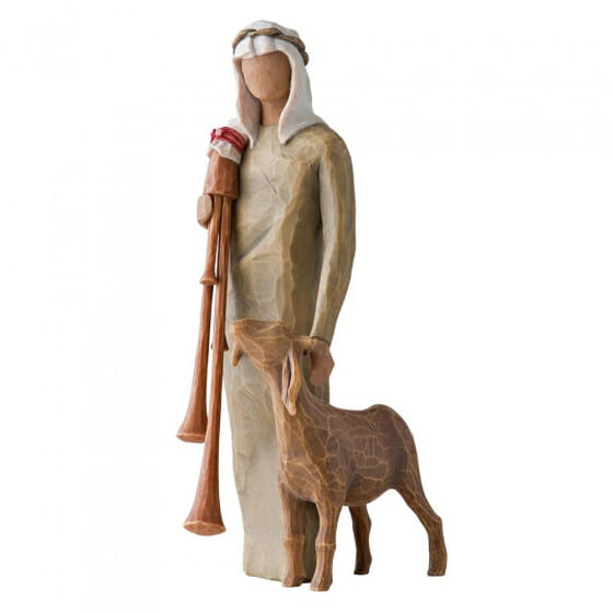 """WILLOW TREE ZAMPOGNARO (SHEPHERD WITH BAGPIPE) - 9""""h - 27183 - SOLD OUT"""