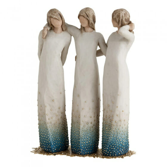 """WILLOW TREE FIGURINE - BY MY SIDE 8"""" SIGNATURE COLLECTION 27368"""