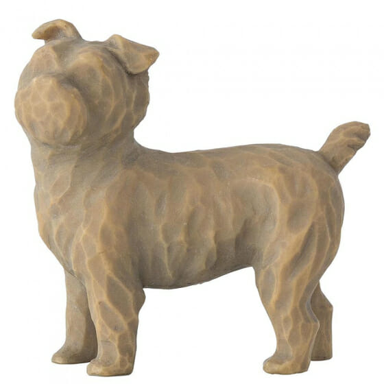 """WILLOW TREE LOVE MY DOG (SMALL STANDING) 2"""" 27791 - SOLD OUT"""
