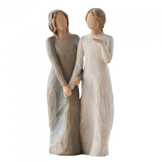 """WILLOW TREE  MY SISTER MY FRIEND- 8.5"""" 27095 - SOLD OUT"""