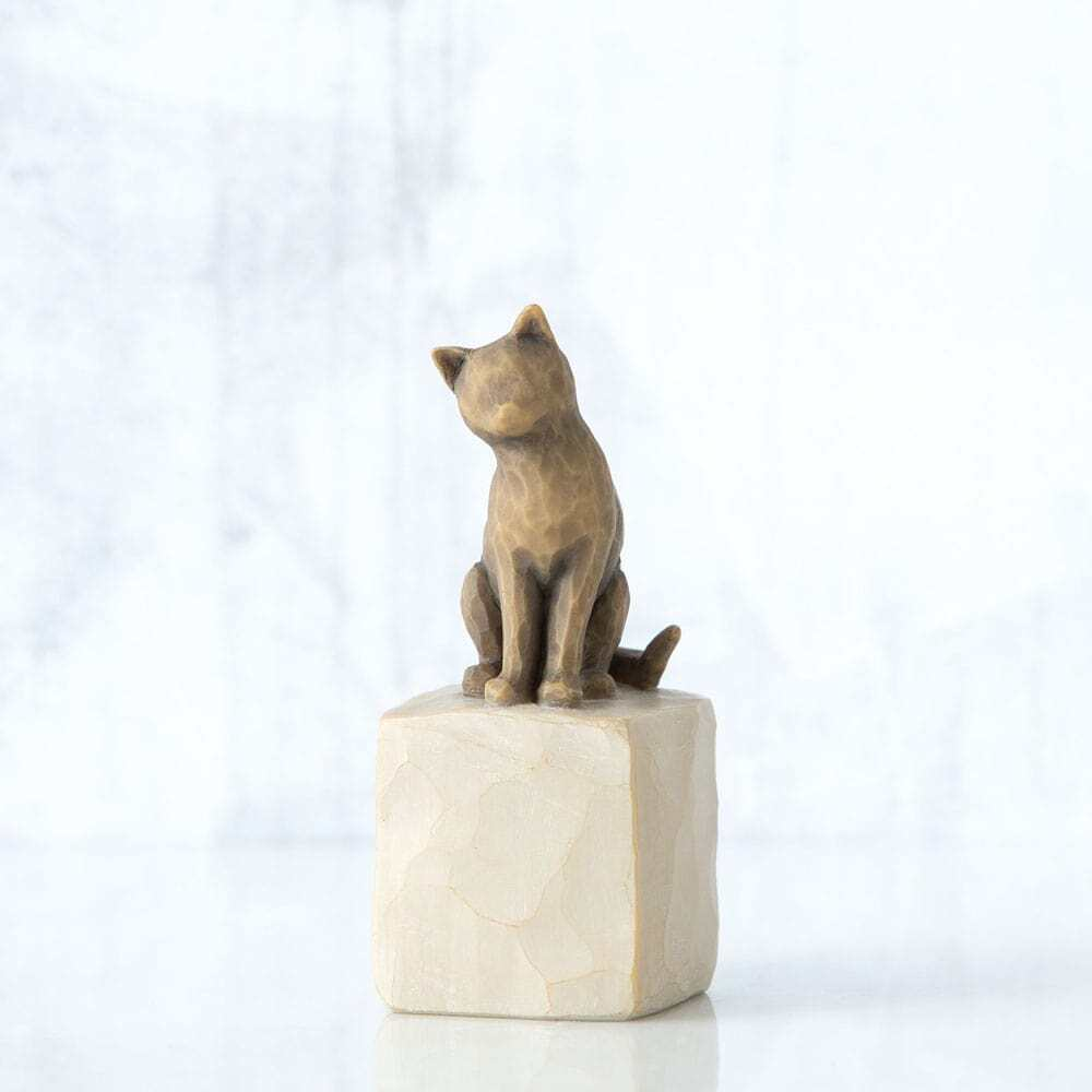 """WILLOW TREE - LOVE MY CAT (dark) 3""""H 27684 - SOLD OUT"""
