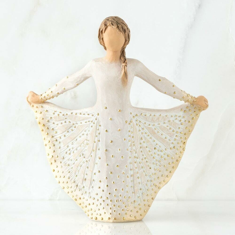"""WILLOW TREE - BUTTERFLY FIGURINE 6.5""""H 27702 - SOLD OUT"""