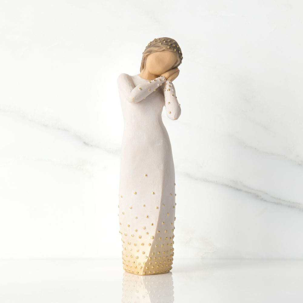 """WILLOW TREE FIGURINE WISHING 6.5""""H 27884 SOLD OUT"""